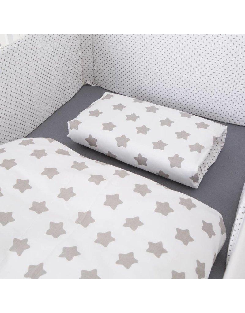 puckdaddy kinderbettw sche mit sternen und punkten puckdaddy. Black Bedroom Furniture Sets. Home Design Ideas