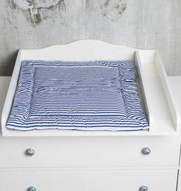 """Wickelauflage """"Streifen blau""""2-seitig in schmal"""