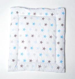 """Wickelauflage """"Sterne blau/grau"""" 2-seitig in schmal"""