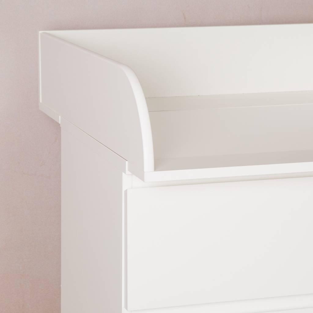 """Wickelaufsatz """"15cm hoch"""" in weiß für IKEA Malm Kommode"""