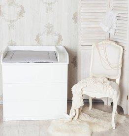 """Puckdaddy Wickelaufsatz """"Rund + Trennfach"""" in weiß für IKEA Malm Kommode"""