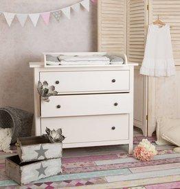 Extra bords arrondis B! Plan à langer pour tous les commodes IKEA Birkeland, Herefoss (blanc)