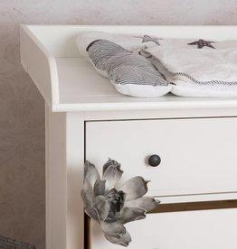 """Puckdaddy Wickelaufsatz """"XXL Rund"""" für IKEA Hemnes in weiß"""
