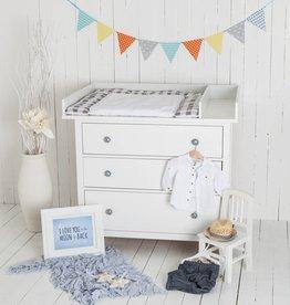 """Puckdaddy Wickelaufsatz """"XXL Standard & Trennfach"""" für IKEA Hemnes in weiß"""