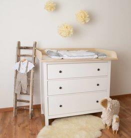 XXL bois naturel! Plan à langer en 108 cm pour tous les commodes IKEA Hemnes