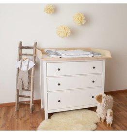 """Wickelaufsatz """"XXL Rund - Natur"""" für IKEA Hemnes"""