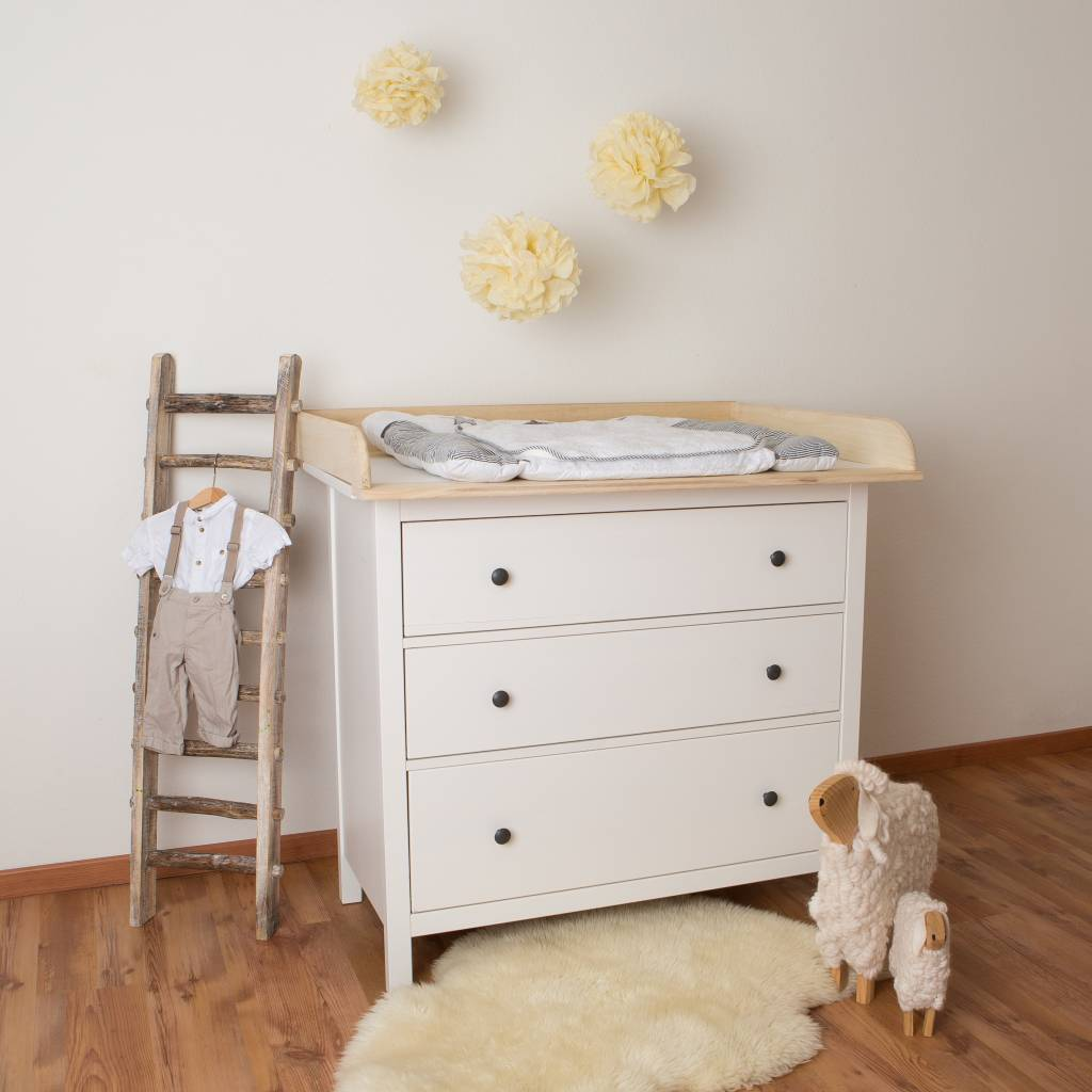 xxl naturholz wickelaufsatz f r ikea hemnes kommode puckdaddy die kinderm bel manufaktur. Black Bedroom Furniture Sets. Home Design Ideas