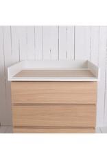 """Wickelaufsatz """"Basic"""" in weiß für IKEA Malm Kommode"""