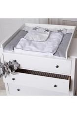 Wickelaufsatz Basic in weiß für IKEA Hemnes/Songesand Kommode
