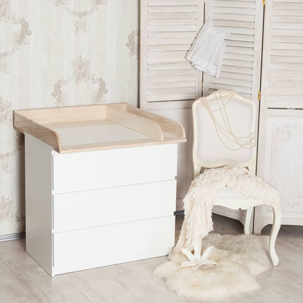 """""""H+"""" Bois naturel + séparation! Plan à langer pour tous les commodes IKEA Malm/ Brusali/ Oppland"""