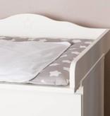 """Wickelaufsatz """"Stern M"""" in weiß für IKEA Malm Kommode"""