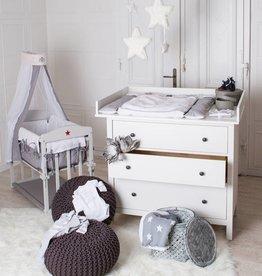 """Puckdaddy Wickelaufsatz """"XXL"""" - Extrabreit für IKEA Hemnes in weiß"""