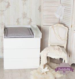 """Puckdaddy Wickelaufsatz """"Basic + Trennfach"""" in weiß für IKEA Malm Kommode"""