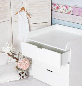 """""""XS-1"""" Extra bords arrondis! Plan à langer pour tous les IKEA Nordli (blanc)"""