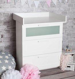 XS plan à langer pour tous les commodes IKEA Brimnes(blanc)