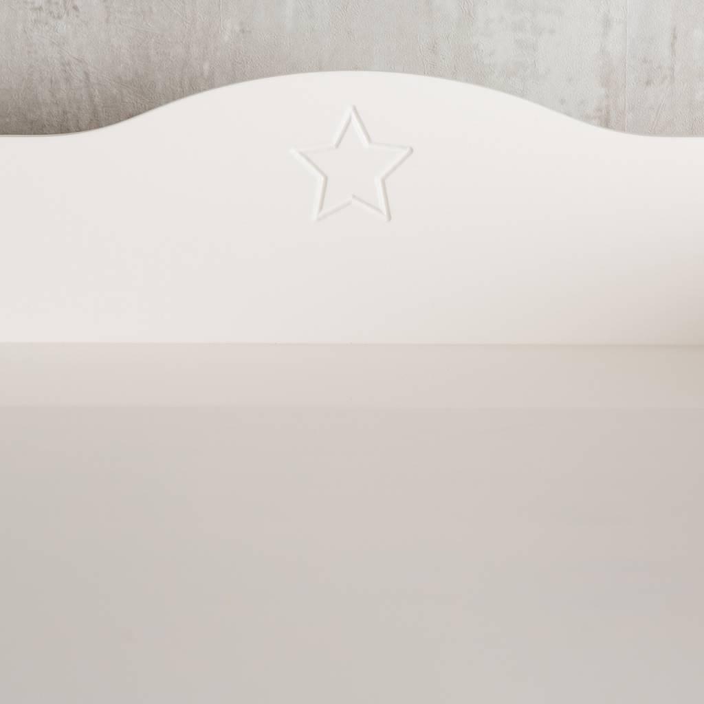 """Ausstellungsstück Wickelaufsatz """"Stern H"""" für IKEA Hemnes Kommode"""