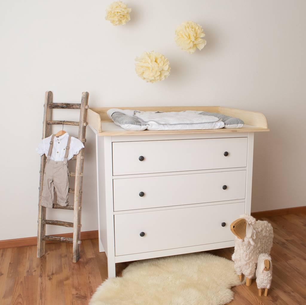 Xxl Naturholz Wickelaufsatz Für Ikea Hemnes Kommode Puckdaddy