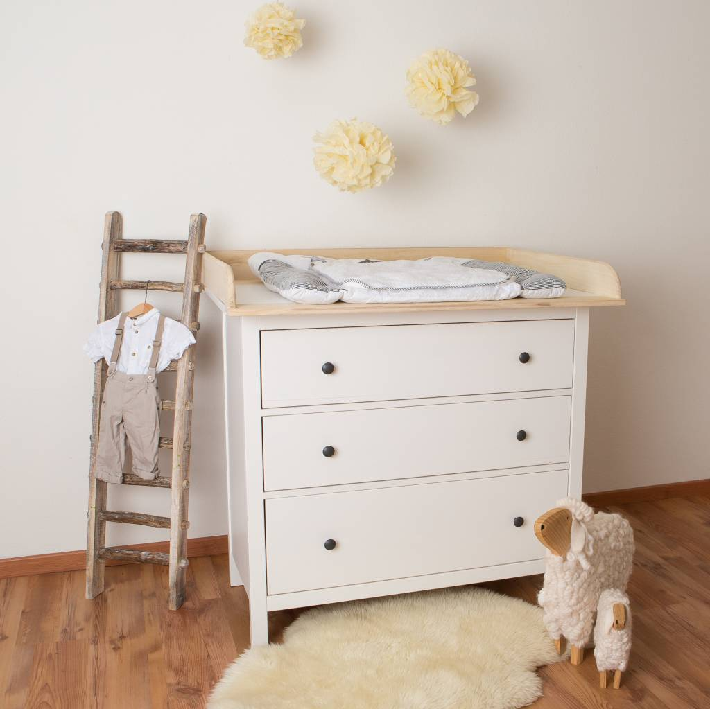 Ikea Hemnes Wickelaufsatz changing top for ikea hemnes/ hurdal - nursery furniture & textiles