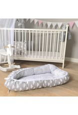 """Baby Cocoon """"Clouds/Stripes grey"""""""