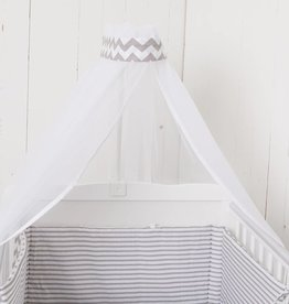 "Crib Bedding Set ""Chevron/ Stripes"""