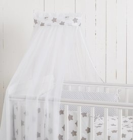 "Crib Bedding Set ""Dots/ Stars white"""