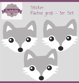 Sticker set Foxes big - 3 piece set