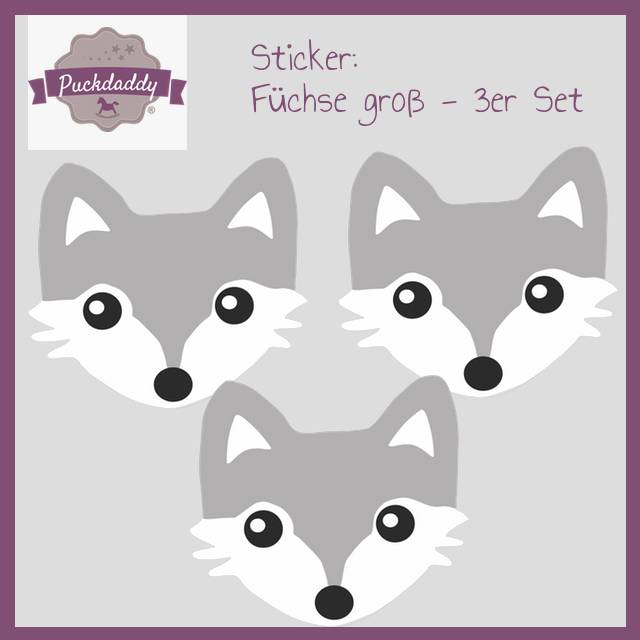 Sticker set Foxes big - 3 piece set