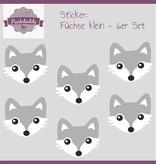 Sticker Füchse klein - 6er Set