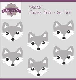 Sticker set Foxes small - 6 piece set