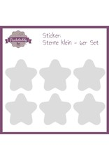 Sticker Sterne grau - 6er Set