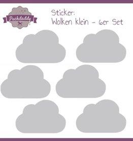 Sticker Grey Clouds Small - 6 piece set