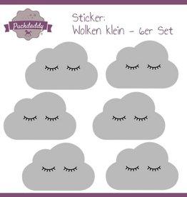 Sticker graue Wolken Augen klein - 6er Set