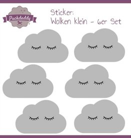 Sticker grey clouds eyes small - 6 pieces