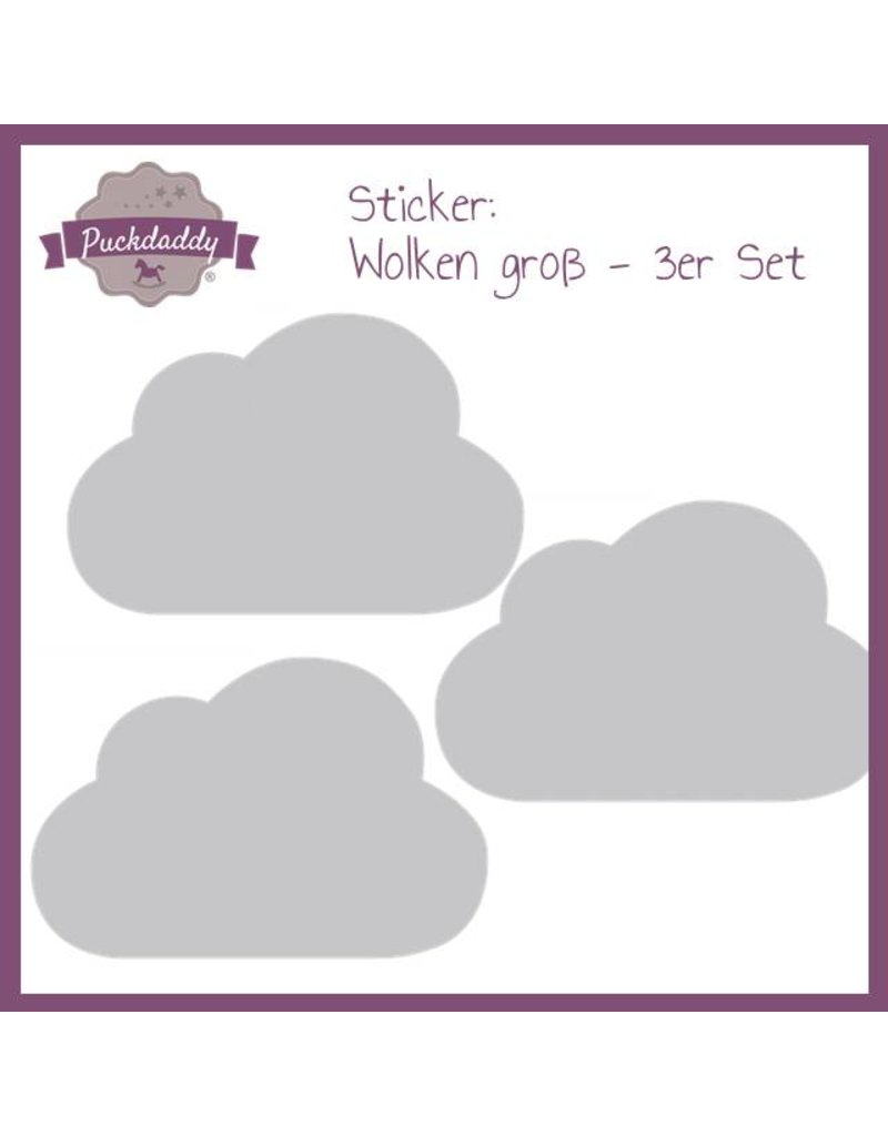 Sticker graue Wolken groß - 3er Set