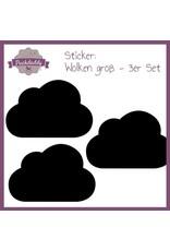 Sticker schwarze Wolken groß - 3er Set
