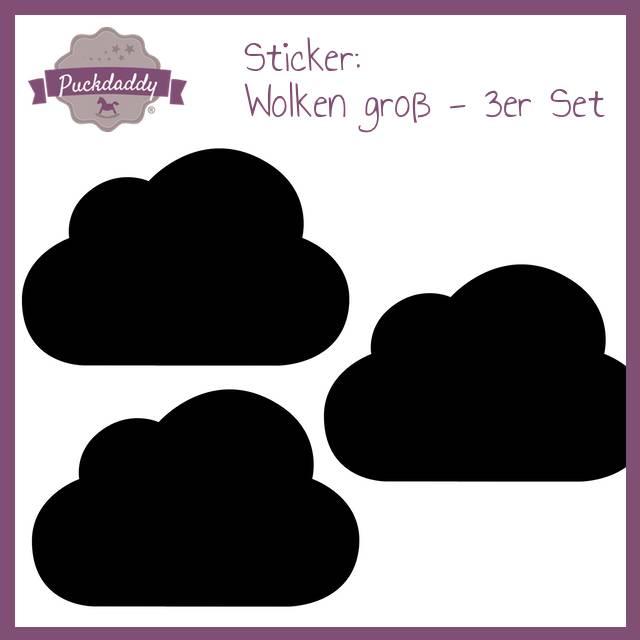 Puckdaddy Sticker schwarze Wolken groß - 3er Set