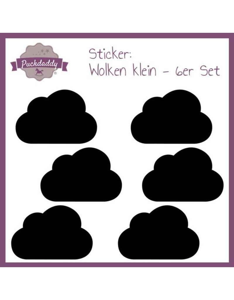 Sticker schwarze  Wolken klein - 6er Set