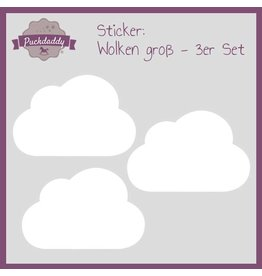 Sticker White Clouds Big - 3 piece set