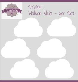 Sticker weiße Wolken klein - 6er Set
