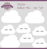 Puckdaddy Sticker Mix Wolken weiß - 8er Set