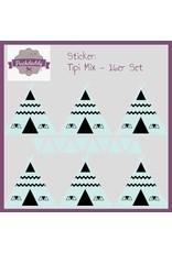Sticker  Mix Tipi & Dreiecke mint klein - 16er Set