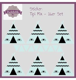 Sticker Mix Tipi & Dreiecke mint  - 16er Set
