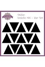 Sticker Dreiecke schwarz mini - 15er Set