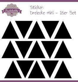 Sticker triangles black mini - 15 piece set