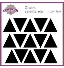 """Autocollant """"triangles noir"""" 15x"""