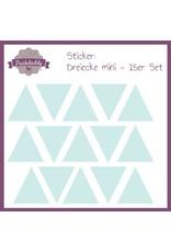 Sticker Dreiecke mint mini - 15er Set