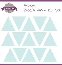Sticker triangles mint mini - 15 piece set
