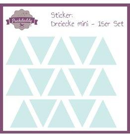 "Autocollant ""triangles mint"" 15x"