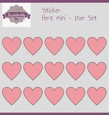 Sticker Herzen rosa mini - 15er Set