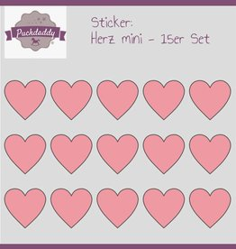 Sticker hearts rose mini - 15 piece set